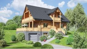 Holzhaus mit Dachgeschoss zh114-46