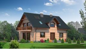 Holzhaus mit Dachgeschoss zh146-76