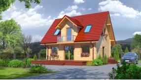 Holzhaus mit Dachgeschoss zh78-546