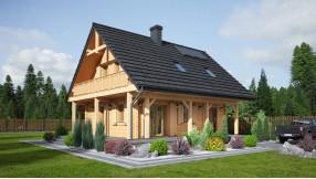 Holzhaus mit Dachgeschoss zh86-553