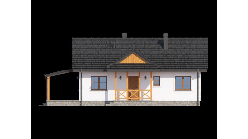 eingeschossige Bausatzhäuser.