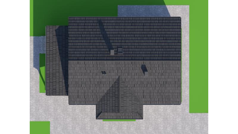 eingeschossige Blockhaus