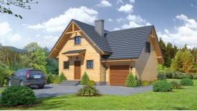Holzhaus mit Dachgeschoss zh71-666
