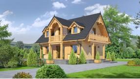 Holzhaus mit Dachgeschoss zh80-695