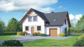 Fertighaus mit Dachgeschoss zf129-1060