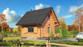 Holzhaus mit Dachgeschoss zh37-1171