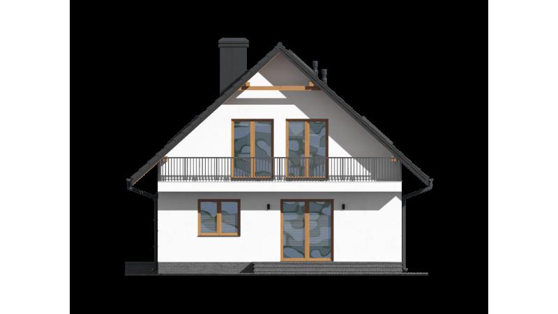 Holzhäuser, Fertighäuser mit Dachgeschoss.