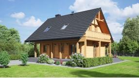 Holzhaus mit Dachgeschoss zh83-1335