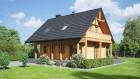 Blockhaus, Holzhaus mit Dachgeschoss