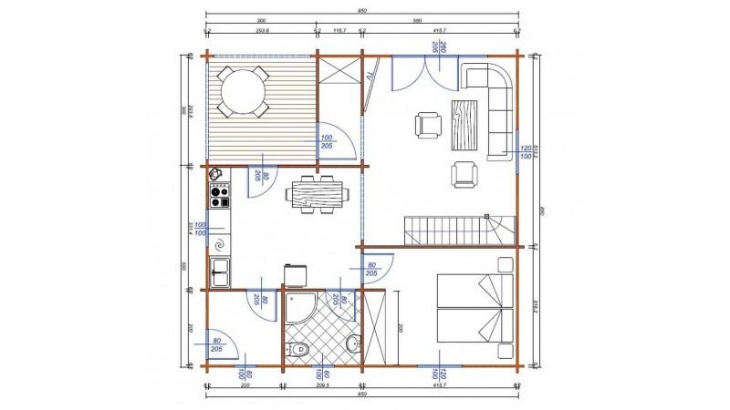 günstige Holzblockhäuser, Ferienhäuser
