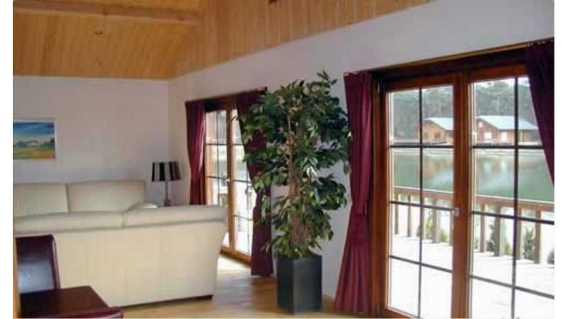 Ferienhaus als einstöckiger Holzhaus