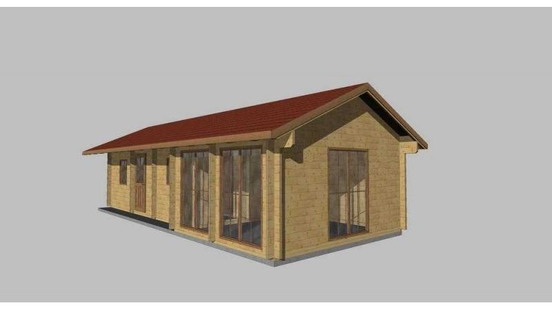 einstöckige Holzhaus, Bungalow