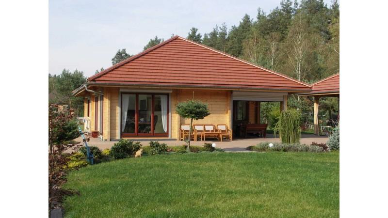 einstöckige Holzhaus Bungalow