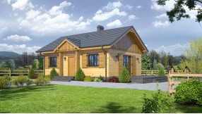 Bungalow Holzhaus eh55-500