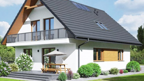 Fertighaus, Wandaufbau Holzhäuser